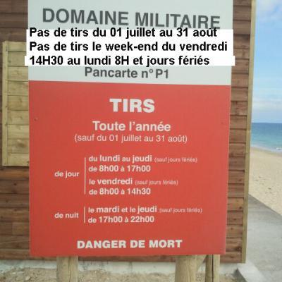 Horaires d'accès à la plage du Linès
