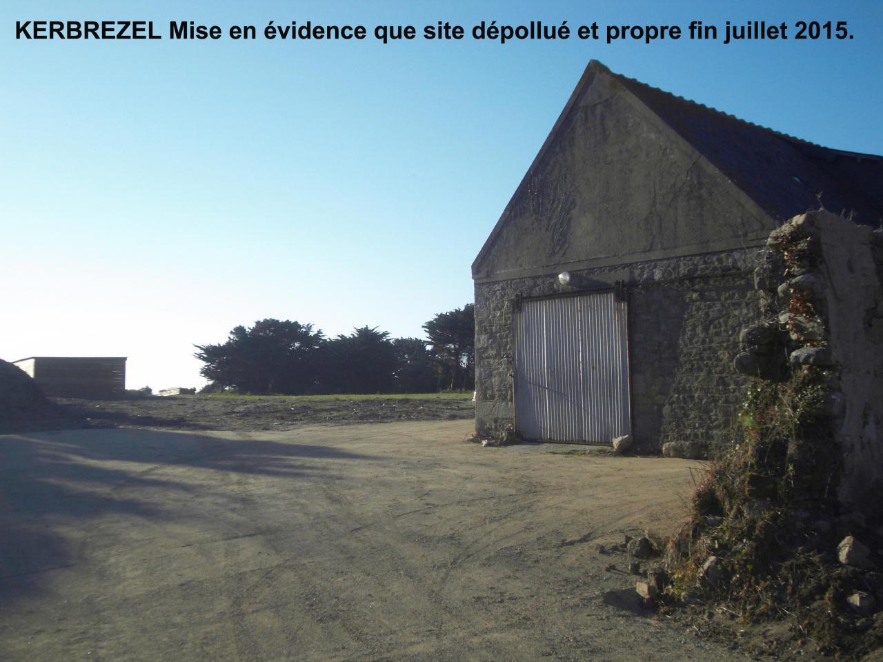 Kerbrézel Mise en évidence que site est dépollué et propre