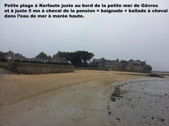 Kerfaute et sa petite plage à 5mn