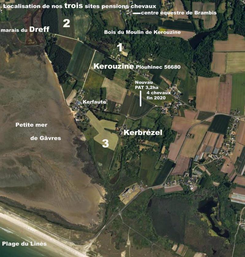 Localisation de nos 3 sites chevaux